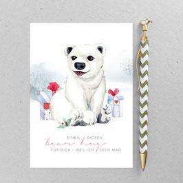 Eisbär - Postkarte - Din A 6
