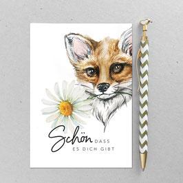 Postkarte - Fuchs