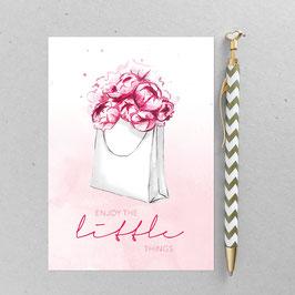 Flowerbag – A6 Postkarte
