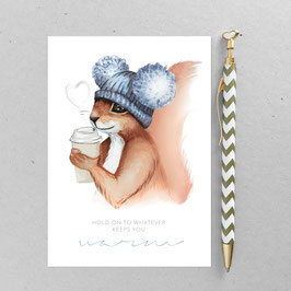 Emma Eichhörnchen – A6 Postkarte