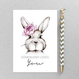 Hasenmädchen – A6 Postkarte