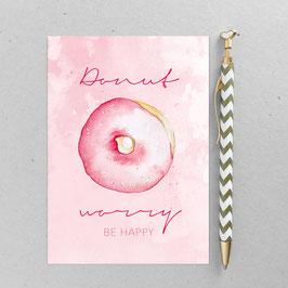 Donut – A6 Postkarte