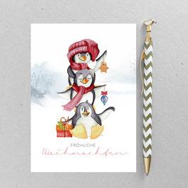 Pinguine - Postkarte - Din A 6
