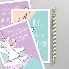 Ella Einhorn - Postkarten Set - A6 Postkarte