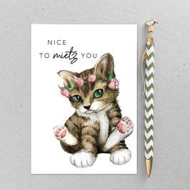 Postkarte - Mieze