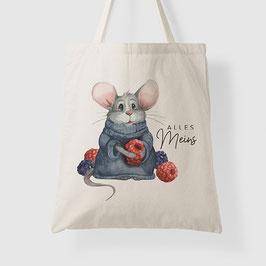 Baumwolle Tasche - Maus