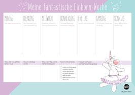 Einhorn-Power – Wochenplaner – A4