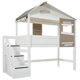 LIFETIME halbhohes Hüttenbett (The Hideout) mit seitlicher Treppe