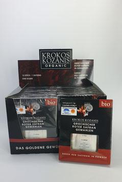 12 x 1g Bio Safran Gemahlen aus Griechenland
