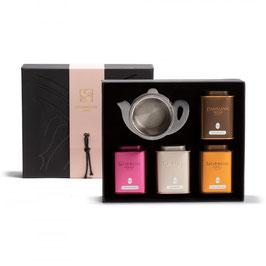 Dammann Frères - Coffret Continental - 4 boîtes thés & passe-thé