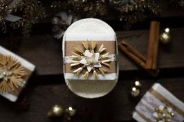 Geschenkset Weihnachten - Seife mit Luffa Seifenablage