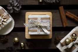 Geschenkset Weihnachten - 3 Seifen mit Seifenschale