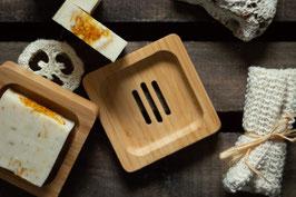 Bambus Seifenschale quadratisch