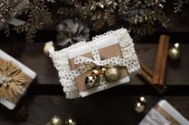 Geschenkset Weihnachten - Seife mit Seifensäckchen