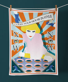 TEA TOWEL »CLEAN YOUR HOUSE«
