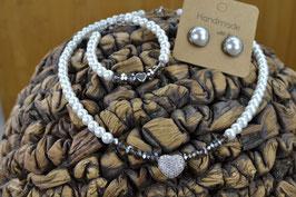"""Perlenkette """"Strassherz"""""""