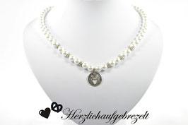 "Perlenkette ""Hirschamulett"""