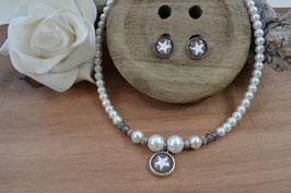 """Perlenkette """"Stern"""" - Wunschfarbe"""