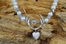 "Perlenkette ""Geweih"" - Miniherzl"