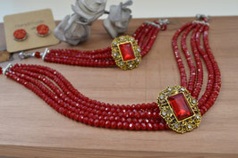 """Kropfband """"Red Pearl"""""""