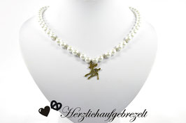 """Perlenkette """"Bronzerehlein"""""""