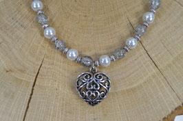 """Perlenkette """"Maria"""" - Wunschanhänger"""