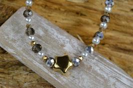 """Perlenkette """"Sternchen"""" - Goldfarben"""