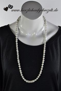 """Lange Perlenkette """"Glitzerfieber"""""""