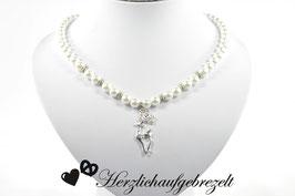 """Perlenkette """"Strasshirsch"""""""