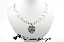 """Perlenkette """"Seidenherz"""""""