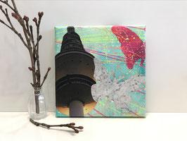 Butterfly Zwei - Collage auf Keilrahmen