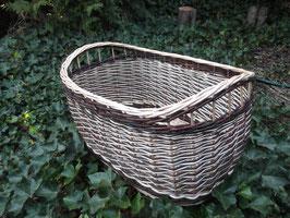 Großer ovaler Weidenkorb, Zeitungskorb, Wäschekorb, Holzkorb