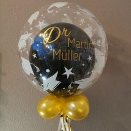 Bubble Doktorhut mit Wunschtext