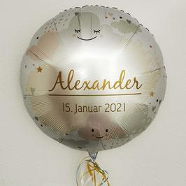 Folienballon zur Geburt 71cm mit Wunschtext