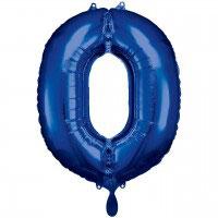 Folienzahl blau 86 cm