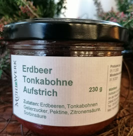 Erdbeeraufstrich mit Tonka Bohne, 200g