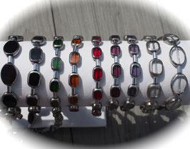 Glasperlen Armband mit Hämatitröhren