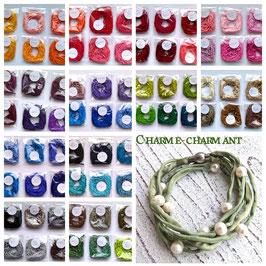 Seidenarmband mit Süßwasserperlen Farbe nach Wunsch