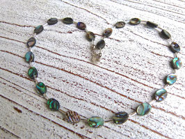 Abalone Kette oval