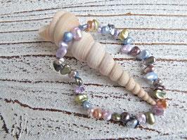 Keshi Perlen Armband pastell