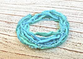 Seidenarmband Perlenspiel im Meer