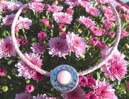 Lederkette Puder in rose
