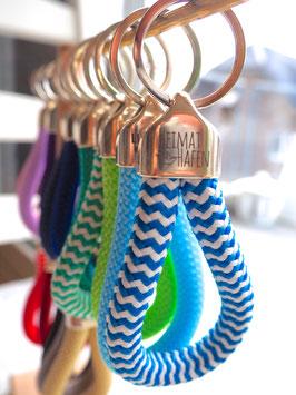 Schlüsselanhänger mit Sprüchen aus Segeltau in tollen Farben