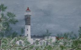 Leuchtturm von Timmendorf Insel Poel 80 x 50 x 1,5 cm