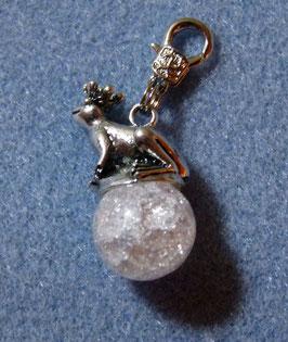 Charm Froschkönig mit Bergkristall
