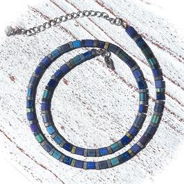 Kette Tila in blau