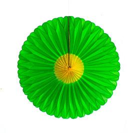 Papier-Blumen grün