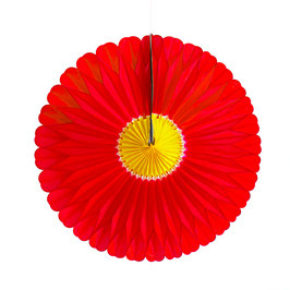 Papier-Blume rot