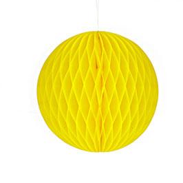 Wabenpapier-Kugel gelb