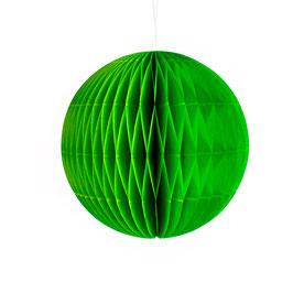 Wabenpapier-Kugel grün
